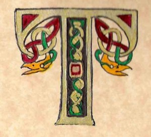 "Decorative Celtic ""T"""