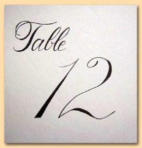 Table number card 1