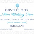Calligrafont will have a stand at the Daintree Wedding Fair on the 22nd of August from 6-8pm.  Aoife will have samples of her decorative calligraphy and wedding stationary. She will […]